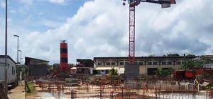 Chantier de rénovation urbaine à Mayotte