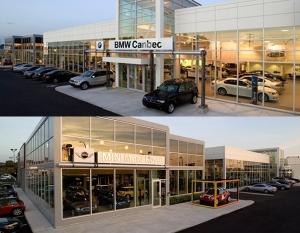 Concessionnaires BMW Canbec et Mini Mont-Royal sur la rue Jean-Talon Ouest