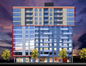 Rouge Condominiums - Phase 4 (vue en 3D du projet)