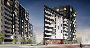 Vue en 3D du projet Rouge Condominiums - Phase 5