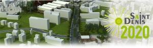 Affiche et logo du Projet de Rénovation Urbaine (PRU) du quartier Vauban/Camélias à St-Denis de la Réunion