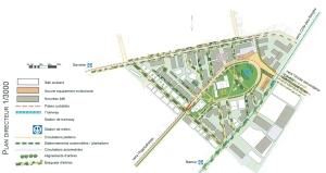 Plan d'ensemble du Triangle Namur/Jean-Talon avec présence des stations de métro Namur et De La Savane