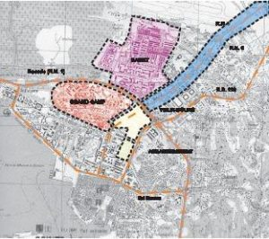 Périmètre des quartiers des Abymes (Guadeloupe) concernés par la rénovation urbaine