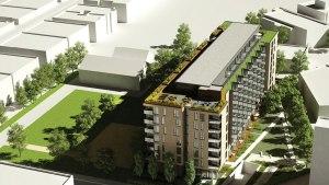 Autre vue aérienne en 3D de la résidence Ma Condos