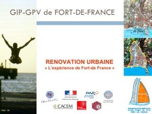 Brochure sur le projet de rénovation urbaine de Fort-de-France (Martinique)