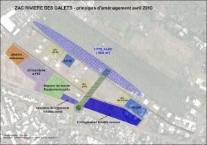 Plan d'aménagement de la ZAC 1 (ou ZAC de la Rivière Des Galets) à St-André (La Réunion)