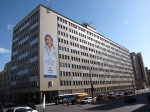 Vue de l'Hôpital St-Luc depuis le boulevard René-Lesveque
