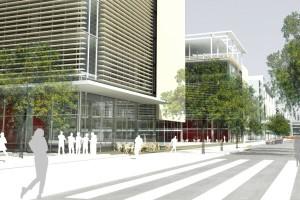 Vue 3D du futur Pavillon des Sciences du Campus d'Outremont