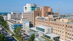 Vue aérienne de l'Hôpital Général Juif de Montréal (Sir Mortimer B. Davis)