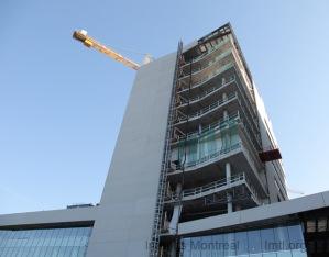 Évolution récente du chantier du Pavillon K de l'HGJ
