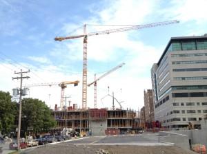 Début de la construction du Pavillon K de l'HGJ