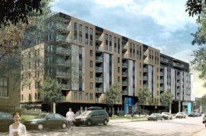 Plan en 3D de la résidence La Tannerie dans Griffintown