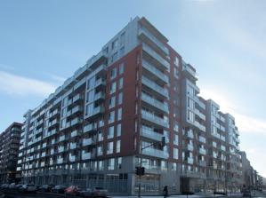 Une vue des phases 5 et 6 des condos Lowney dans Griffintown