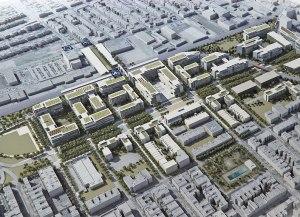 Maquette en 3D du futur Campus d'Outremont