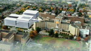 Maquette 3D du projet d'agrandissement de l'Hôpital Ste-Justine