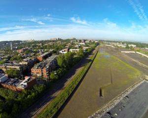 Vue aérienne du site du futur campus