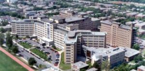 Vue aérienne de l'Hôpital Ste-Justine