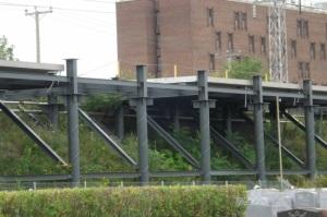 Construction de la voie ferrée du Train de l'Est