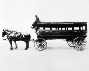 Un tramway hippomobile de Montréal avant 1886