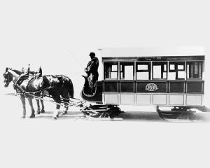 Un tramway traîneau de Montréal avant 1892