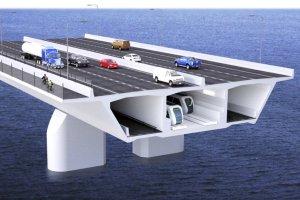 Représentation numérique d'une des options pour le SLR du pont Champlain