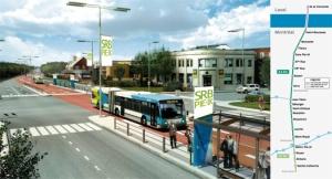 Le SRB du Boulevard Pie-IX (présenté en 3D) et un exemple d'une de ses futures stations