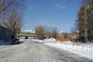 Travaux de fermeture de l'avenue De Carillon en hiver