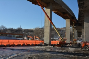 Construcion de la bretelle A15 vers A20