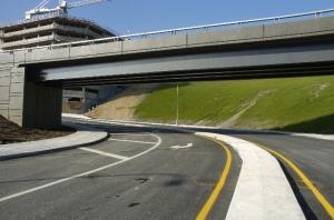 Bretelle d'accès Saint-Jacques de l'échangeur Turcot et chantier du CUSM