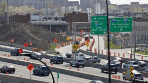 Circulation sur l'autoroute 40 au niveau du chantier de réaménagement de l'échangeur des Laurentides