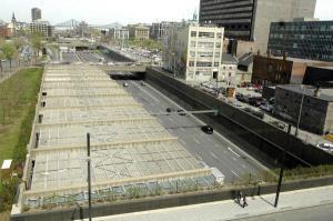 Circulation sur l'autoroute Ville-Marie entre les tunnels Ville-Marie et Viger