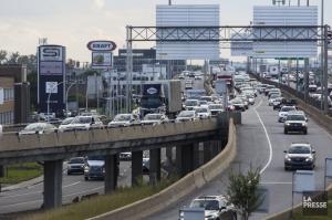 Circulation congestionnée sur la Métropolitaine