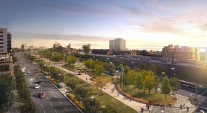 Vision du futur boulevard urbain remplaçant la structure élevée de l'autoroute Bonaventure