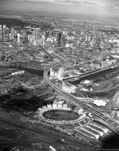 L'autoroute Bonaventure après sa construction, en 1966
