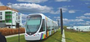 Vision du futur tramway de l'agglomération de Pointe-à-Pitre (Guadeloupe)