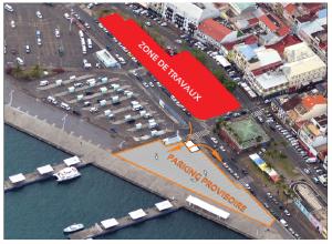 Plan des travaux du TCSP au centre-ville de Fort-de-France (Martinique)