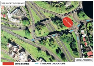 Plan de la déviation du pont de Châteauboeuf