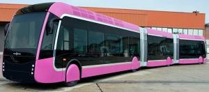 Exemple de Bus à Haut Niveau de Service (BHNS) qui sera utilisé pour le TCSP de Martinique