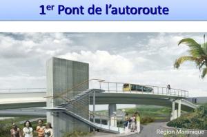 Représentation en 3D du 1er pont de l'Autoroute A1 qui sera emprunté par le TCSP