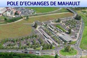 Vue aérienne du futur pôle d'échanges de Mahault (Le Lamentin)