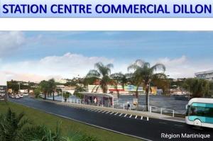 Vue en 3D de la future station du Centre commercial de Dillon du TCSP