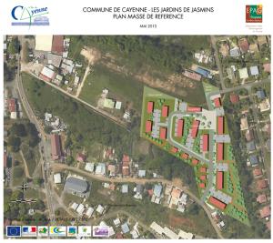 Plan masse de référence du projet des Jardins de Jasmin (Cayenne)