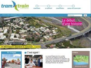 Brochure du projet de tram-train de la Réunion