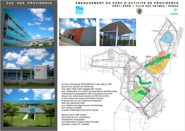 Plan parc d'activités La Providence Abymes