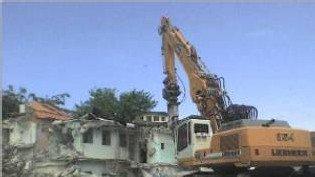 Démolition de l'ancienne maison d'arrêt de PAP