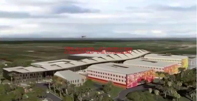 Détails du futur CHU de la Guadeloupe (visuel)