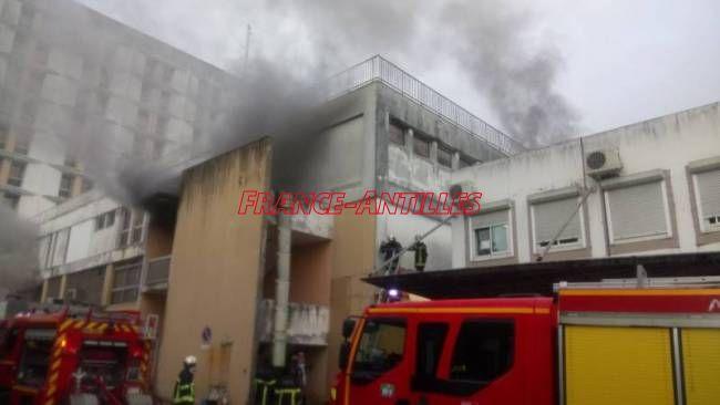 Incendie CHU PAP novembre 2017
