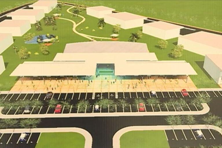 Vue aérienne (rendu visuel) de l'Agropark Caraïbes Excellence (Les Abymes)