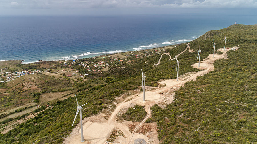 Parc éolien de La Montagne (Désirade III)